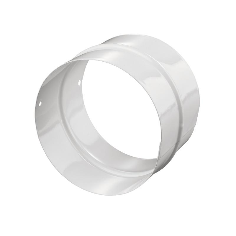 Патрубок (соединитель) ПМ125 d=125 мм металл, белый