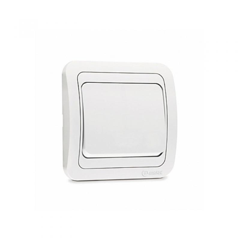 Выключатель с/у Makel Mimoza 12001, 1 клавиша, 10А, 230В, IP20, белый