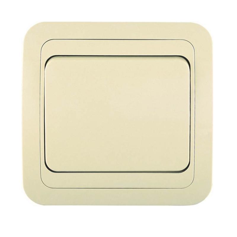 Выключатель с/у Makel Mimoza 25001, 1 клавиша, 10А, 230В, IP20, кремовый