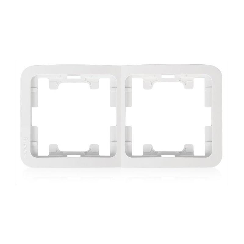 Рамка 2-х постовая горизонтальная Makel Mimoza 22012 IP20, белая