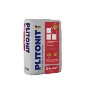 Клей Усиленный плиточный Плитонит В, для наружных и внутренних работ, 25 кг