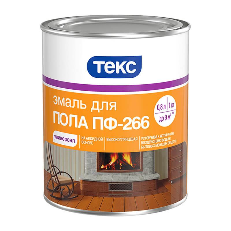 Эмаль для пола ПФ-266 Универсал красно-коричневая (1 кг)