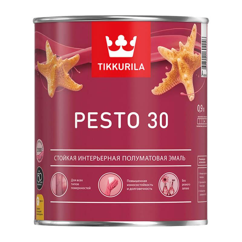 Краска алкидная универсальная Pesto 30 A полуматовая (0,9 л)