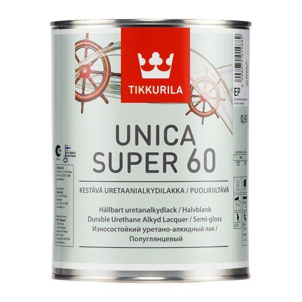 Лак универсальный Unica Super 60 EP полуглянцевый (0,9 л)