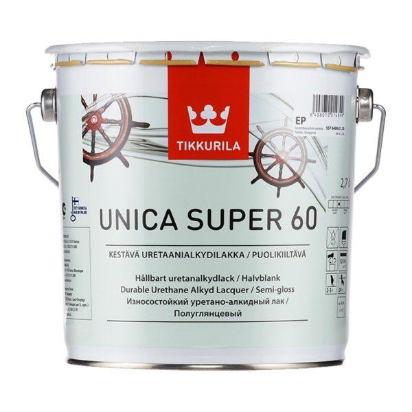 Лак универсальный Unica Super 60 EP полуглянцевый (2,7 л)