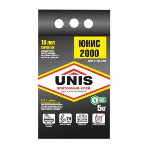 Клей для плитки Юнис 2000, 5 кг