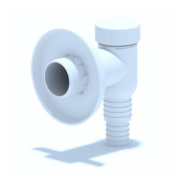 Клапан обратный для стиральной машины настенный (белый)