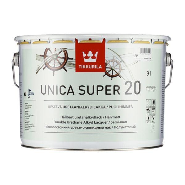 Лак универсальный Unica Super 20 EP полуматовый (9 л)