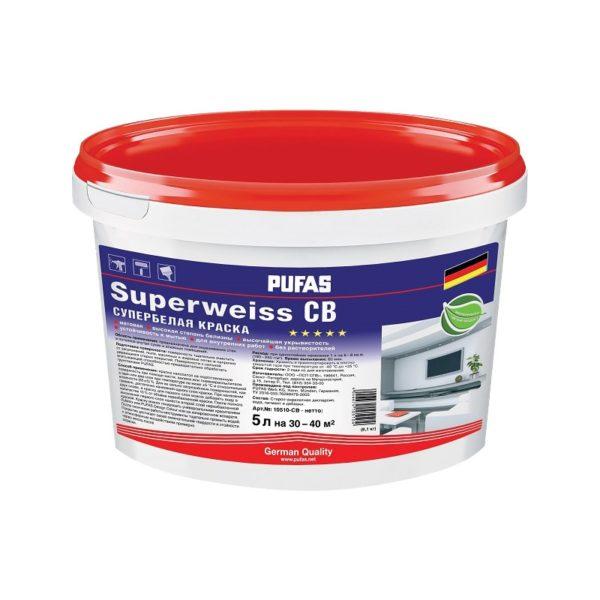 Краска в/д Superweiss моющаяся супербелая (5 л)