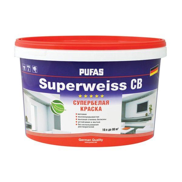 Краска в/д Superweiss моющаяся супербелая (10 л)