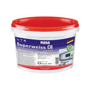 Краска в/д Superweiss моющаяся супербелая (2,5 л)