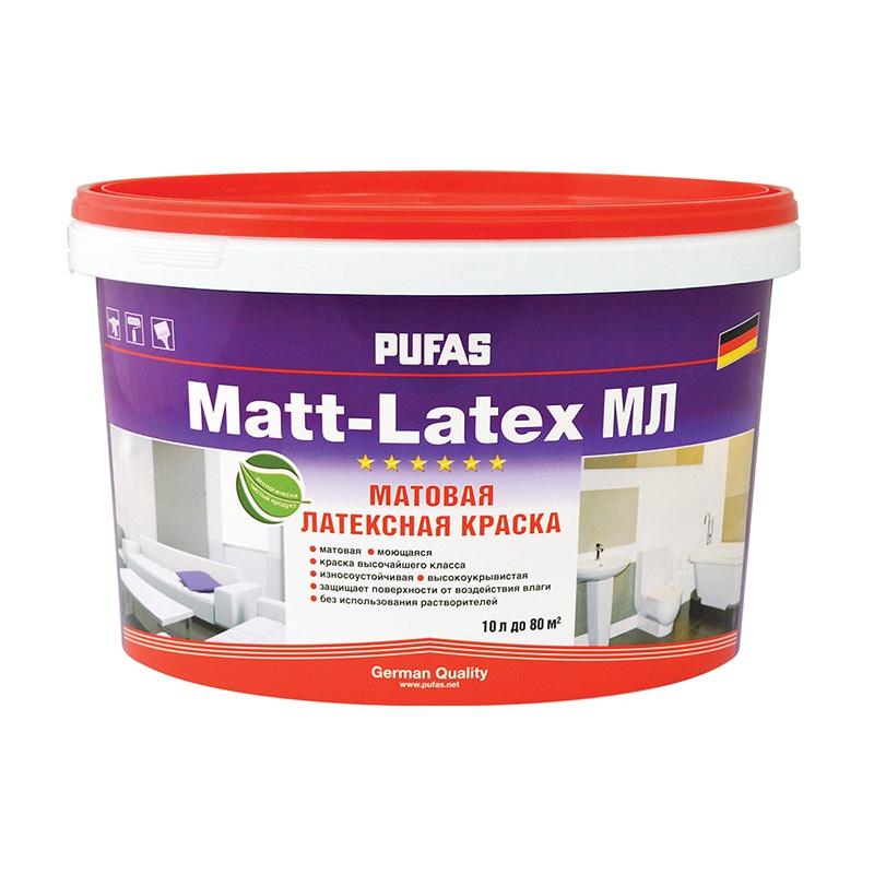 Краска в/д Matt-Latex А моющаяся латексная (10 л)