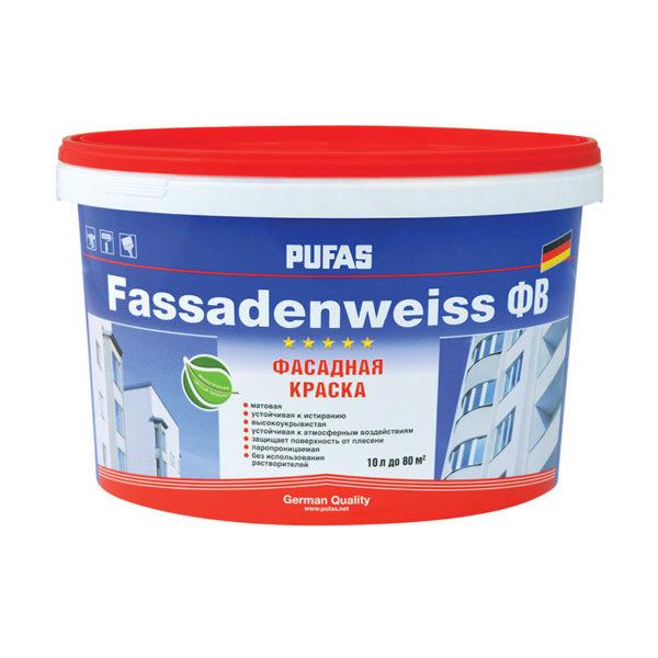 Краска в/д фасадная Fassadenweiss A (10 л)