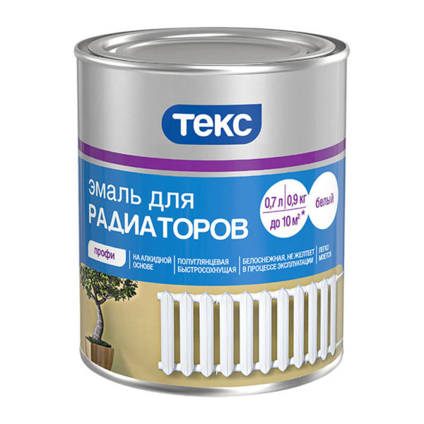 Эмаль для радиаторов алкидная (0,9 кг)