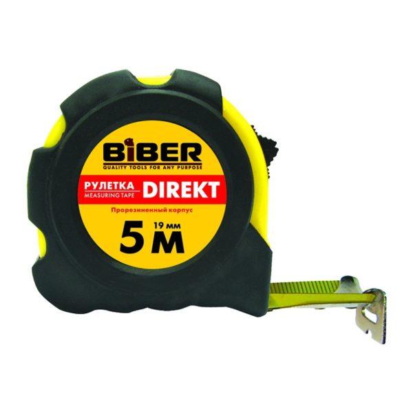 Рулетка Biber 40101 Direkt обрезиненный корпус 2 м/16 мм