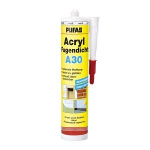 Герметик акриловый PUFAS Acryl Fugendicht A30 белый (0,31 л)