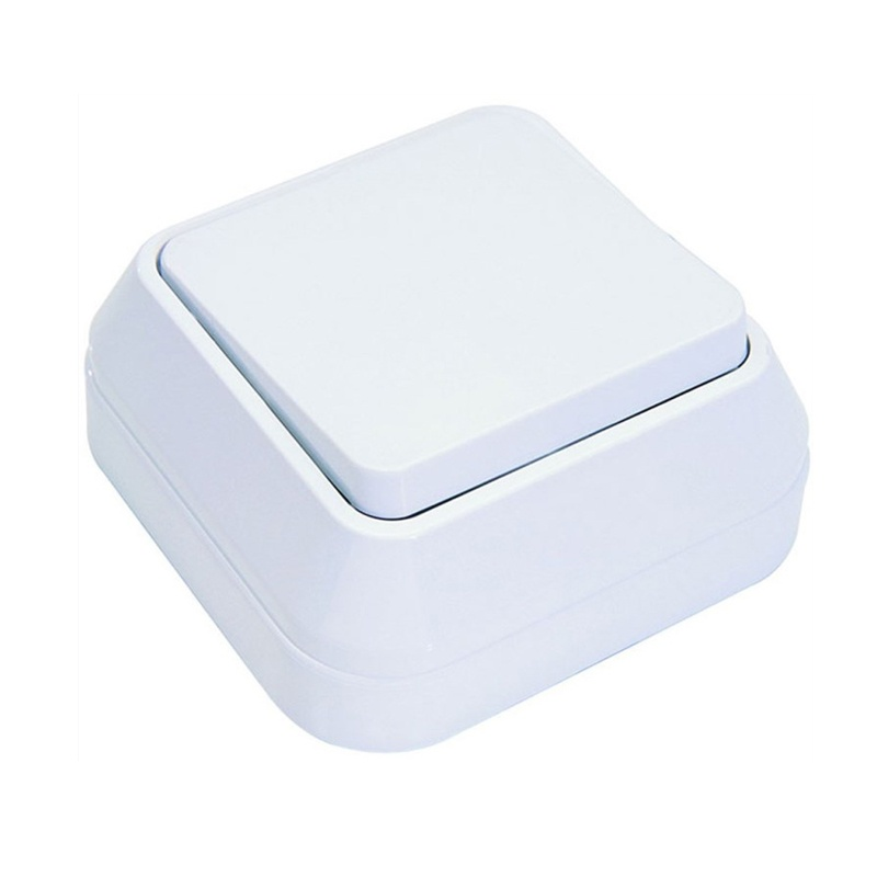 Выключатель о/у Makel 45101, 1 клавиша, 10А, 230В, IP20, белый