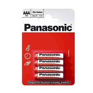 Элемент питания солевой Panasonic, тип BR03/AAA, 1,5В (уп. 4 шт)