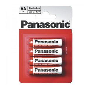 Элемент питания солевой Panasonic, тип BR6/AA, 1,5В (уп. 4 шт)