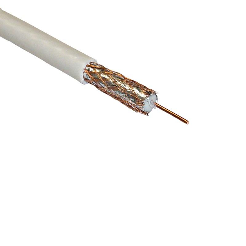 Кабель TV коаксиальный SAT-703, жила медь, белый (1 п.м.)