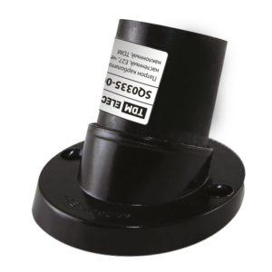 Патрон Е27 карболитовый настенный наклонный 4А, 230В, черный