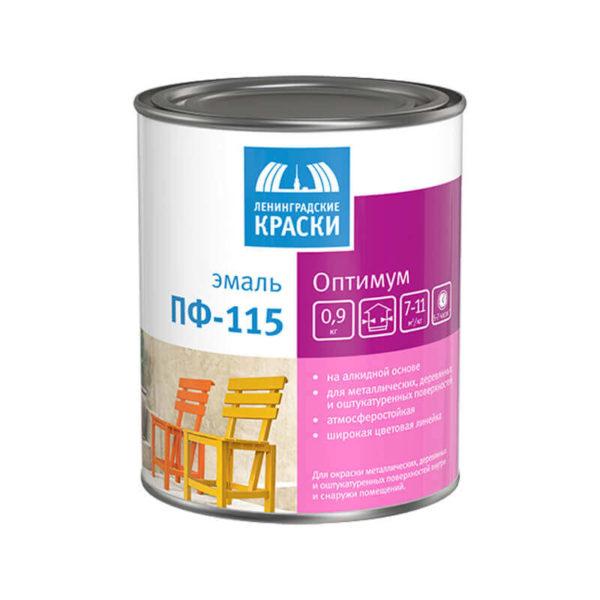 Эмаль Оптимум ПФ-115 чёрная (0,9 кг)