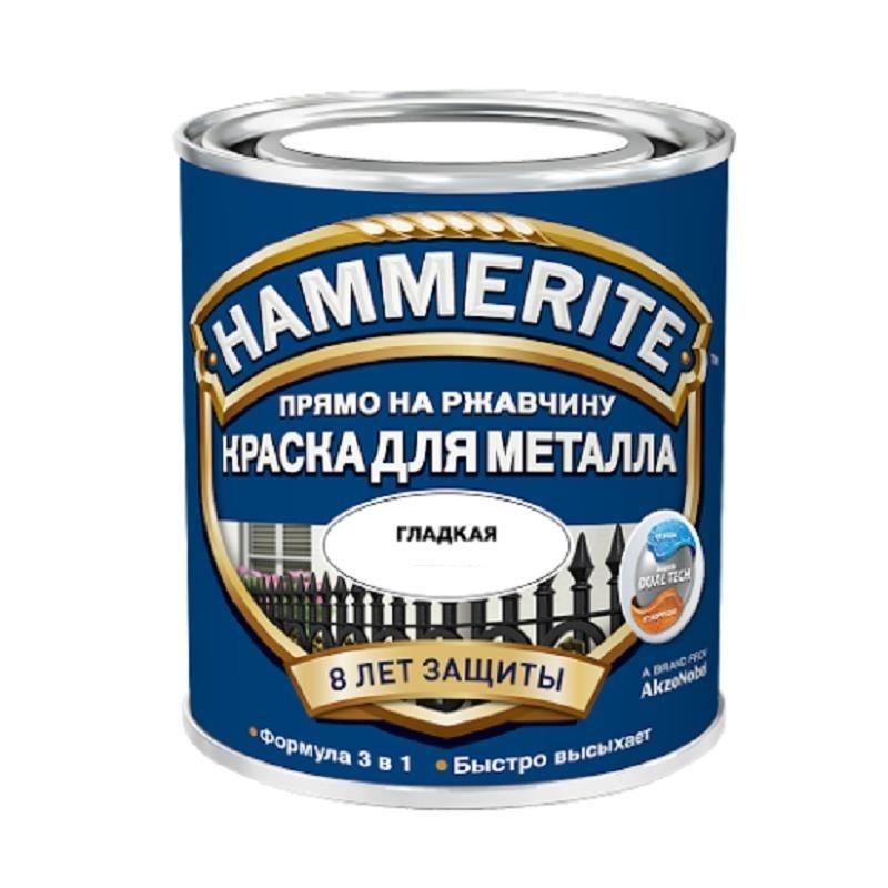 Краска по ржавчине гладкая серебро (0,75 л)