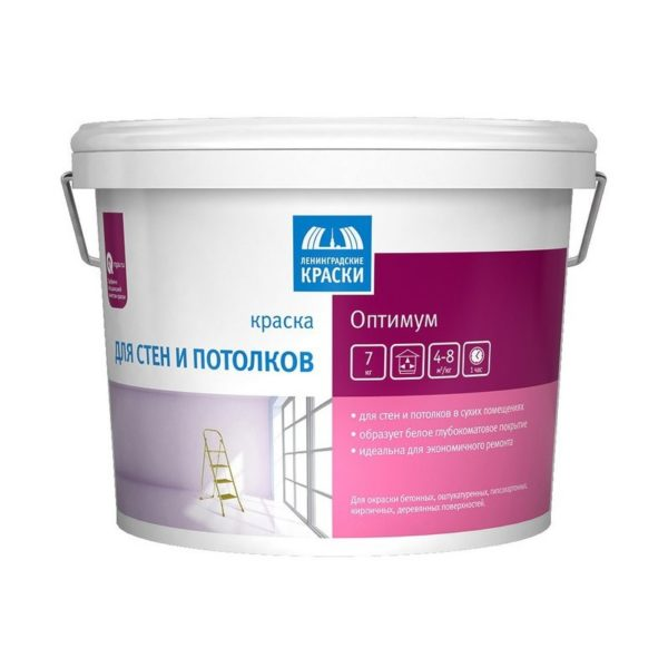 Краска в/д для стен и потолков Оптимум (7 кг)