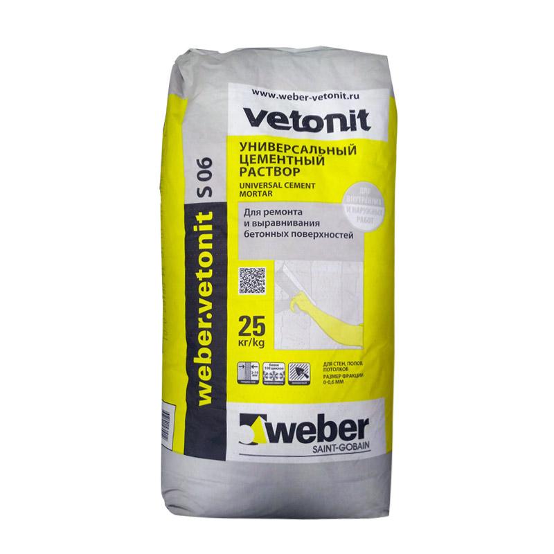 Ремсостав цементный Вебер Ветонит S06, 25 кг