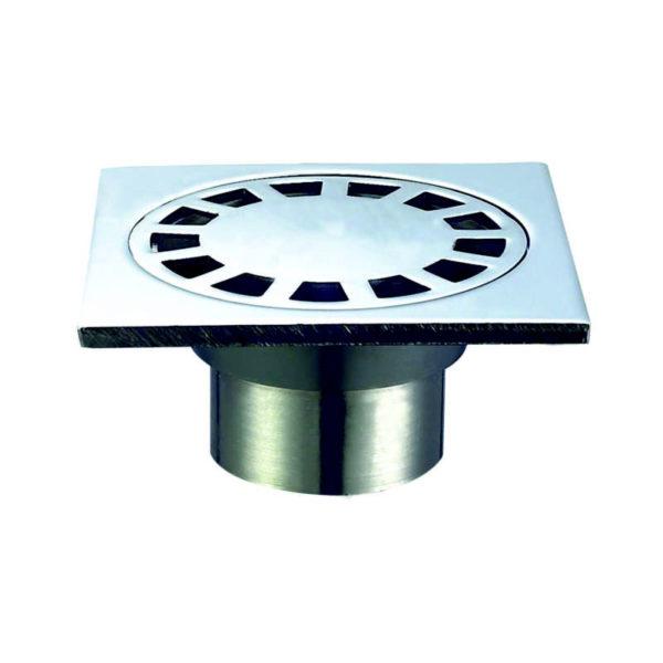 Трап мет. н/регул. вертик. d=50 мм 100х100 мм, гидрозатвор