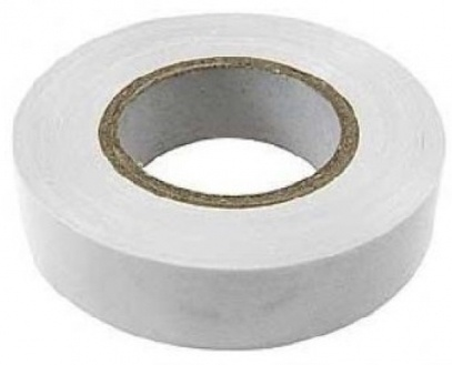 Изолента ПВХ 19 мм белый (20 м)