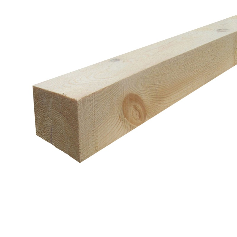 Брус 1-3 сорт деловой, 100х100х6000 мм е/в. хв/п.