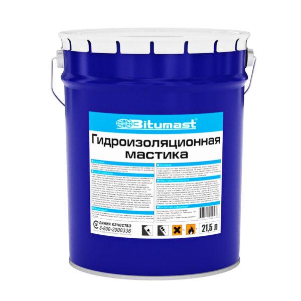Мастика гидроизоляционная, металлическое ведро, 21,5 л