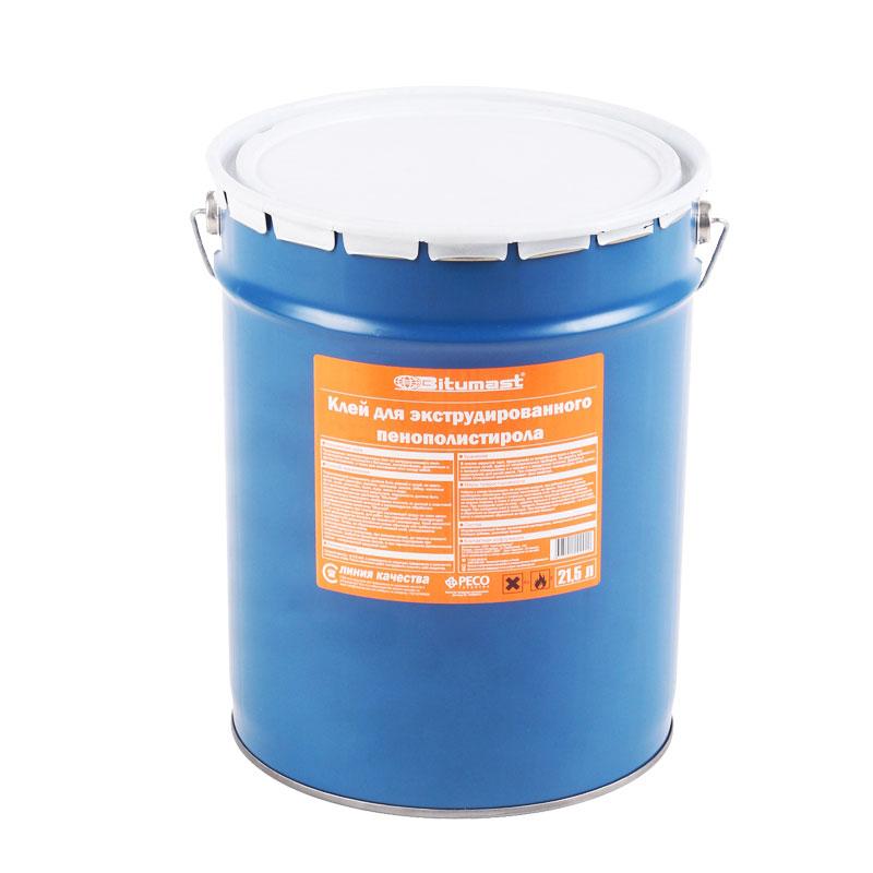 Клей для ЭПП (XPS) и пенопласта, металлическое ведро, 21,5 л