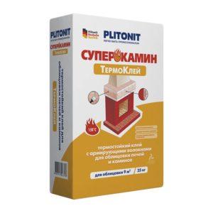 Термоклей Плитонит СуперКамин для облицовки печей и каминов , 25 кг