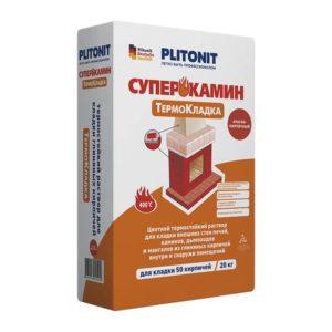Термокладка Плитонит СуперКамин для кладки печей и каминов , 20 кг