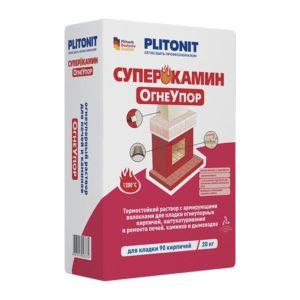 Огнеупорная смесь Плитонит СуперКамин, 20 кг