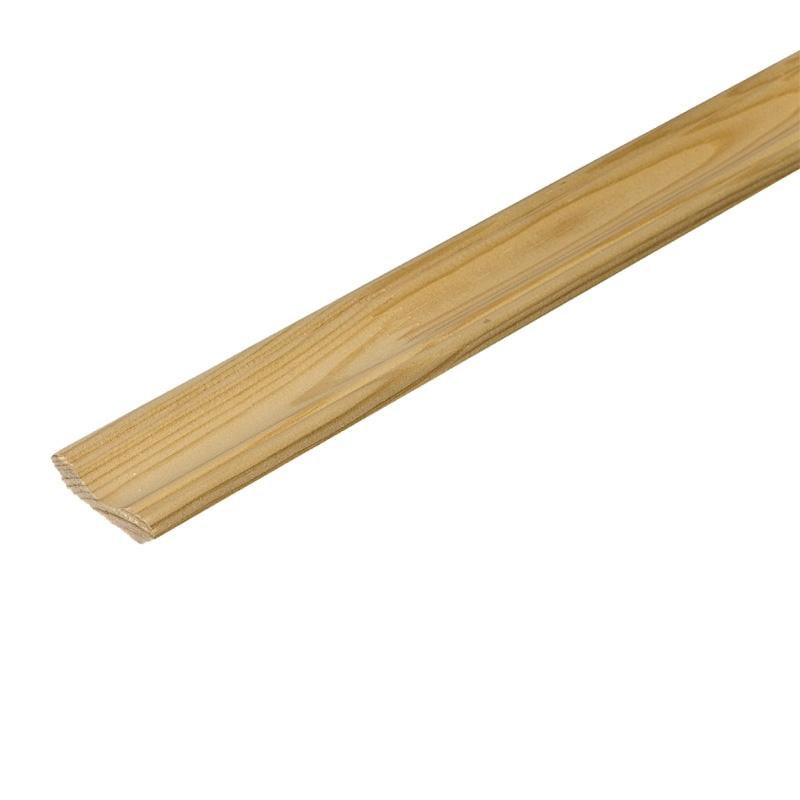 Плинтус деревянный клееный 60x2500 мм