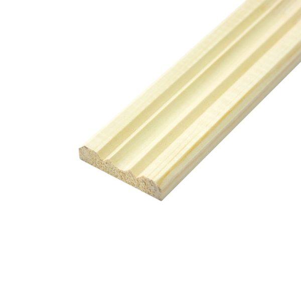 Раскладка деревянная, фигурная клееная, 30x2500 мм