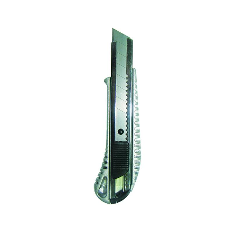 Нож строительный Biber 50116 усиленный 18 мм металлический корпус