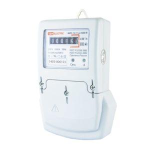 Счетчик электр. 5-60А, 230В, 1 кл.точн, 1 фазн, 1 тариф, мех.отчетн.устр., монт.панель в шкаф, белый