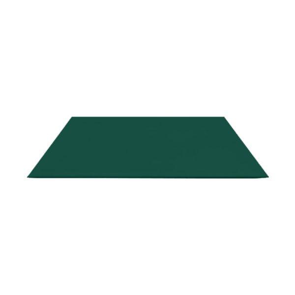 Лист гладкий оцинк. (RAL 6005) зеленый мох 1250x2000x0,5 мм (2,5 м2)