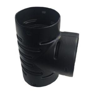 Тройник для дренажных гофрированных труб 110 мм (90 градусов)