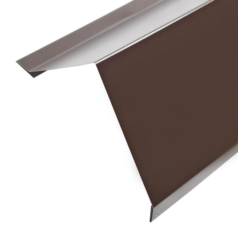 Планка карнизная для металлочерепицы (RAL 8017) корич. шоколад (2 м)