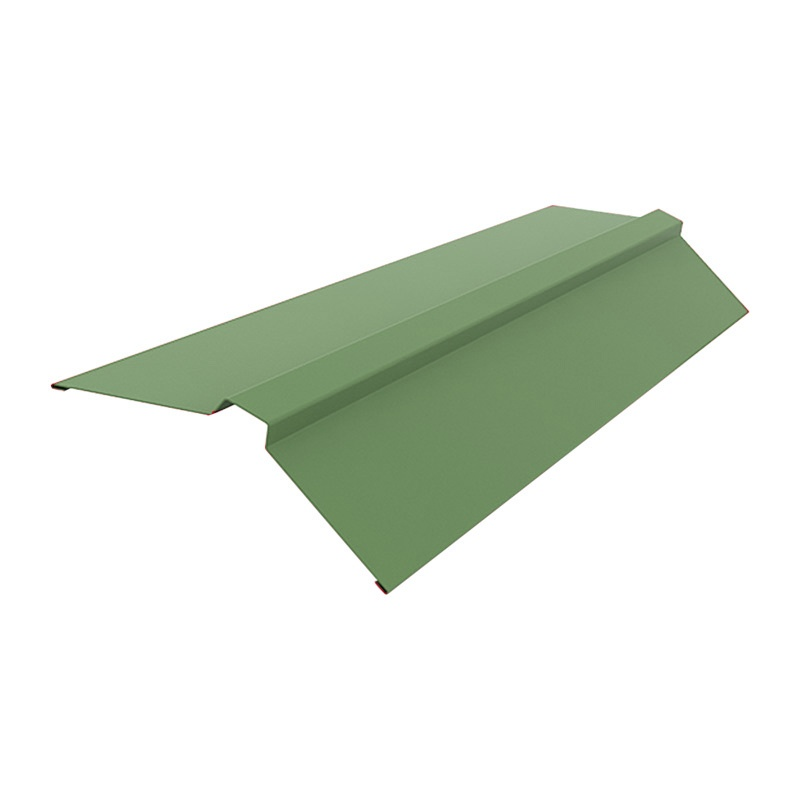 Конек кровельный (RAL 6005) зеленый мох (2 м)