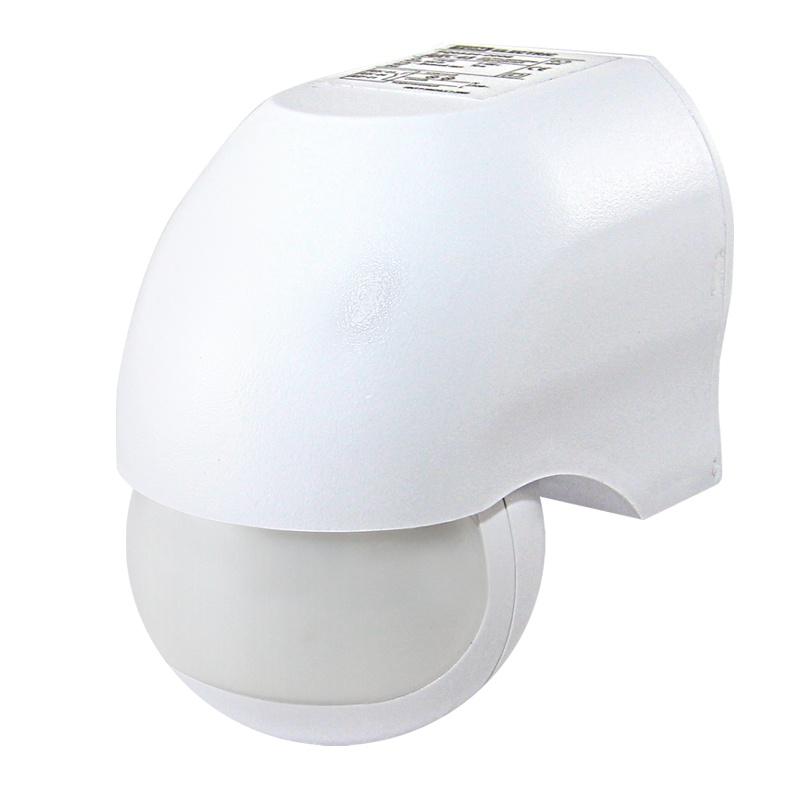Датчик движения настен. 1100Вт, 10-720с, d=10 м, угол обзора 180 гр. 230В, IP44, белый