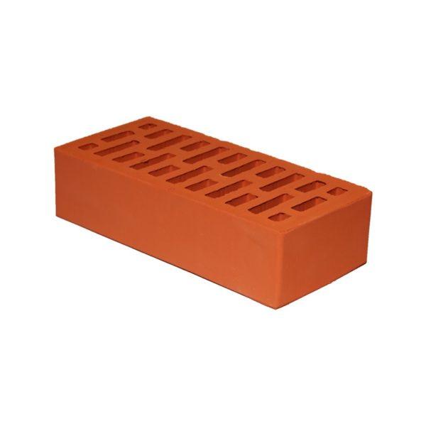 Кирпич керамический пустотелый лицевой одинарный, М-150, красный