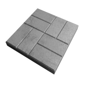Тротуарная плитка 8-кирпичей 400x400 мм серая