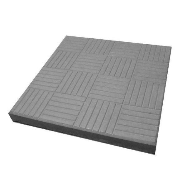Тротуарная плитка Паркет 300x300 мм серая