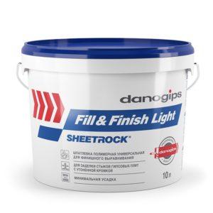 Шпаклевка готовая облегченная Fill&Finish Light (12 кг)